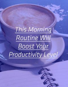 This morning routine is working. Have you tried it?