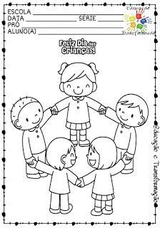 Blog Educação e Transformação: 👍 Dia das Crianças: Colorindo Art Drawings For Kids, Drawing For Kids, Easy Drawings, Art For Kids, Preschool Colors, Preschool Activities, Colouring Pages, Coloring Books, Character Education