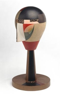 By Sophie Taeuber-Arp (1889-1943), 1920, Tête dada, turned wood and painted.
