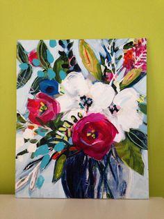 Amazing Day original painting acrylic in by PinkandGreenCreative