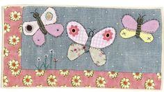 #sharonblackman #folkart #applique #handmade #textiles #sewing #butterflies #artlicensing