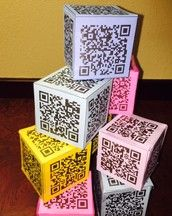 QR Code Cubes for writing