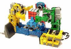 Joi Ito's Web: May 2004 Archives Lego Robot, Robots, Lego Creations, Legos, Geek Stuff, Rubik's Cube, Geek Things, Lego Ideas, Arduino