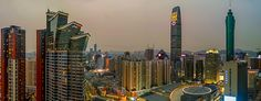 Diwang-building-KK-Mall-Grand-Hyatt-Shenzhen-evening