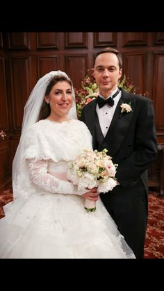 Amy and Sheldon's wedding. TBBT