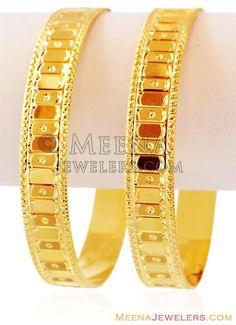 Gold Bangles For Women, Gold Bangles Design, Gold Plated Bangles, Gold Jewellery Design, Gold Jewelry, Jewelery, Gold Bracelets, Bridal Jewellery, Gold Choker Necklace
