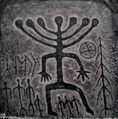 Siberia, Khakassia; Petroglyph, about 5.000 BCE