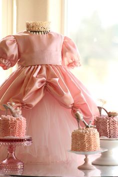 DIY girls princess gown AND cakes!