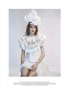 visual optimism; fashion editorials, shows, campaigns & more!: the white album: lara mullen by josh olins for vogue uk april 2012