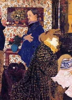 Edouard Vuillard, Misia and Vallotton at Villeneuve, 1899, Oil on cardboard, 72 x 53 cm, Collection of William Kelly Simpson
