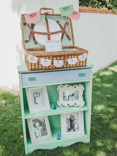 wedding card station mint wedding theme vintage wedding rustic outdoor wedding