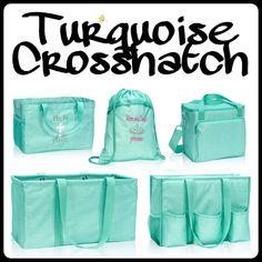 Turquoise Crosshatch