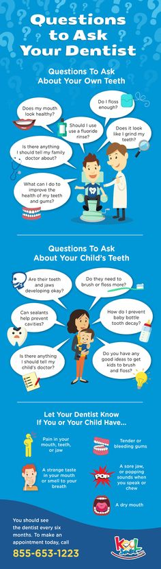 Questions to Ask Your Dentist Infographic #SmartMouthFamilyDental http://smartmouthfamilydental.com/dentist-in-gainesville-tx