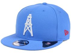 Houston Oilers New Era NFL Historic Vintage 9FIFTY Snapback Cap Nfl Caps b250ce61b