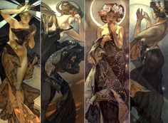 The stars - Alphonse Maria Mucha  Thought about sleeving these.....LOVE this series so much.