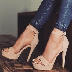 hochzeitsschuhe Trendy High Heels For Ladies : Pastel nude wears Prom Shoes, Women's Shoes, Shoe Boots, Strappy Shoes, Heeled Boots, Heeled Sandals, Sandals Outfit, Shoes Style, Dress Shoes