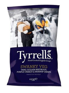 I love the use of color on the monotone background... and the chips are great too... Tyrrells Swanky Veg