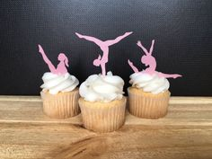 Gymnastics Party Gymnastics Edible Paper Cupcake by Silvermisted