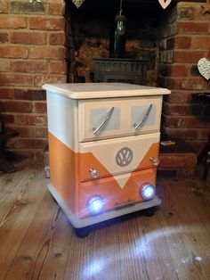 VW Campervan bedside drawers painted locker nightstand