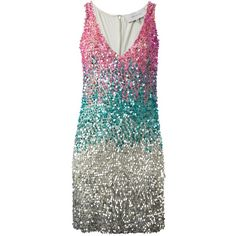 sequin mini dress - Green Amen