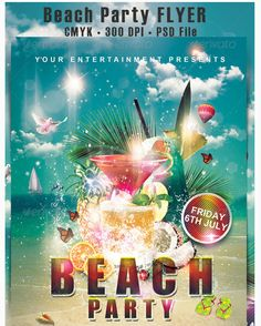 Pool  Beach Party Flyers  Party Flyer Templates For Clubs