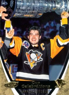 Mario Lemieux - Player's cards since 1985 - 2016 Pittsburgh Sports, Pittsburgh Penguins, Nhl, Phil Esposito, Bobby Hull, Mario Lemieux, Hockey World, Ice Hockey Players, Player Card