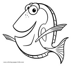 dory finding nemo coloring page, disney coloring pages, color plate, coloring sheet,printable coloring picture