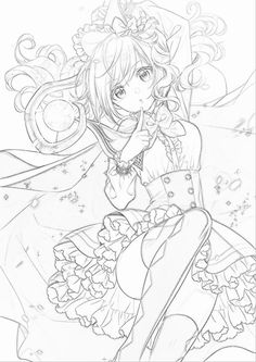 girl The Effective Pictures We Offer You About drawing sketches anime A quality pict Anime Drawings Sketches, Anime Sketch, Kawaii Drawings, Cute Drawings, Drawing Base, Manga Drawing, Manga Art, Anime Kawaii, Anime Chibi
