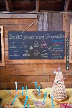 Build Your Own Cupcake Bar! | WEDDINGPINS.NET | #weddingcakeideas
