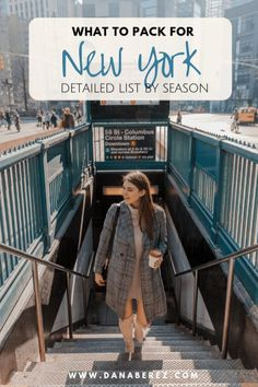 What to Pack for a Trip to NYC | Ultimate NYC Packing List by Season | NYC street style outfits Dana Berez Packing List. Ever wonder what to pack for a trip to NYC. I have you covered with this NYC packing list by season including NYC essentials and NYC outfit ideas for winter, spring, summer and fall. The ultimate New York packing list. What to wear in NYC. NYC street style outfits for all seasons. New York casual fashion. NYC outfits for spring 2019 | Dana Berez Packing Guide | NYC blogger