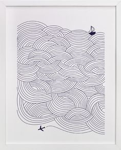 Nursery Print- Field of Waves by Papersheep at minted.com