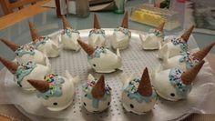 Narwhal cake pops