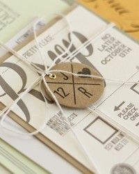 Modern California Wedding Invitations, tag with initials on it?