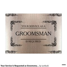 Your Service Is Requested as Groomsman Blur 5x7 Paper Invitation Card
