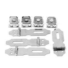 4Pcs Home Drawer Door Safety Padlock Latch Hasp Staple Stainless Steel #S018Y# High Quality