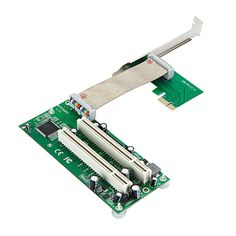 PCI-e To Dual PCI Adapter PCIe To 2 PCI Extension Card Support Innovative Sound Capture Card