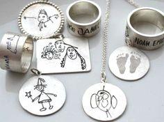 Anhänger+mit+Kinderzeichnung+von+MIRANDA+Jewels+auf+DaWanda.com