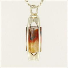 KUPITTAAN KULTA - Finland - Silver Agate Kinetic Pendant Necklace | eBay