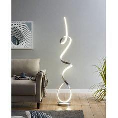 Silver Floor Lamp, Led Floor Lamp, Cool Floor Lamps, Cool Lighting, Modern Lighting, Lighting Design, Modern Floor Lamps, Lighting Ideas, Floating Entertainment Center