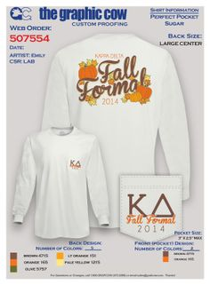 Kappa Delta Fall Formal by Emily #kappadelta #fall #formal