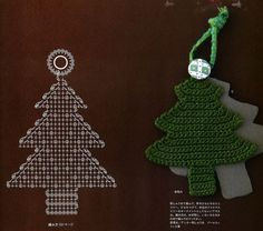 ISSUU - Crochet and knitting by vlinderieke Christmas Angels, Christmas Tree Ornaments, Christmas Time, Christmas Crafts, Christmas Decorations, Holiday, Crochet Tree, Crochet Ornaments, Crochet Books