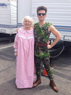 Chris Colfer tweet- It's a production of Peter Pan you'll never forget!  Old Dog New Tricks episode.