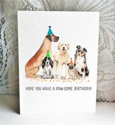 Available on Etsy, featuring a Great Dane, English Cocker Spaniel, Golden Doodle, Pug, and Australian Shepherd dogs.