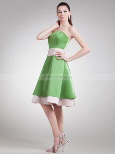 Destry - Una línea satén dos tonos vestido de damas de honor