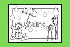 Lär dig skriva namnet på och känna igen vårtecknen för månaden #mars medan du färglägger målarbilden.   #färglägga #målarbild #vår #skola #förskola #fritids #pedagog Art For Kids, Crafts For Kids, Maj, Math Worksheets, Social Studies, Stencil, Preschool, Pictures, Art For Toddlers
