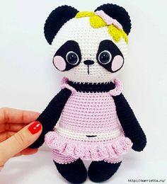 Вяжем крючком игрушку «Панда Нелли»    Описание дано на китайском языке, но при большом желании разобраться можно