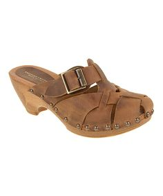 Look at this Chinese Laundry Whiskey Little Joe Leather Clog on #zulily today!