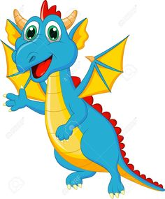 Illustration of Cute dragon cartoon vector art, clipart and stock vectors. Dragon Birthday, Dragon Party, Dinosaur Images, Cartoon Wall, Cartoon Photo, Bible School Crafts, Fantasy Mermaids, Dragon Pictures, Cute Dragons