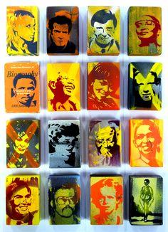 Biography, Alex Hamilton - 16 individual hand cut stencil icons