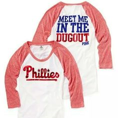 Victoria's Secret PINK Phillies Top This is a NWT LIMITED EDITION/SOLD OUT 3/4 length top perfect for your favorite baseball fan! PINK Victoria's Secret Tops Tees - Long Sleeve